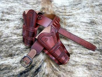 Cowboy Leather Holsters Custom Western Gun Holster Old West